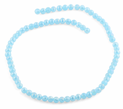 6mm Blue Faceted Round Crystal Beads
