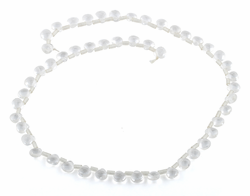 6MM Clear AB Gemstone Beads
