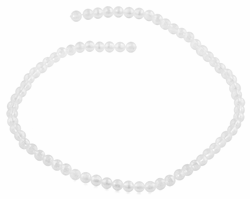 6mm Clear Faceted Round Crystal Beads