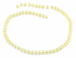 6mm Clear Yellow  Round Faceted Crystal Beads