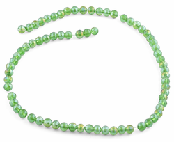 6mm Green Faceted Round Crystal Beads