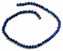 6mm Navy Blue Twist Faceted Crystal Beads