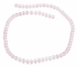 6mm Pink Faceted Round Crystal Beads