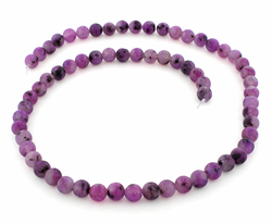 6mm Purple Quartz Round Gem Stone Beads