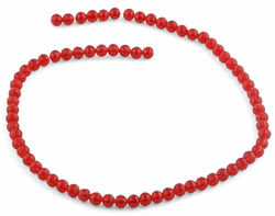 6mm Red Faceted Round Crystal Beads