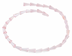6x12mm Pink Cone Faceted Crystal Beads