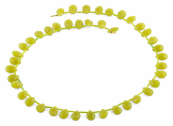7x10MM Olive Jade Drop Gemstone Beads