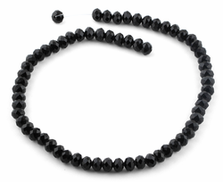 8mm Black Faceted Rondelle Crystal Beads