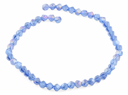 8mm Blue Twist Faceted Crystal Beads