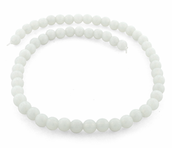 8mm Milk Opalite Round Gem Stone Beads