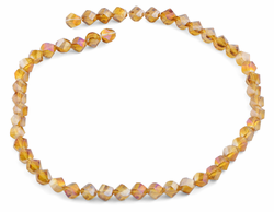 8mm Orange Twist Faceted Crystal Beads