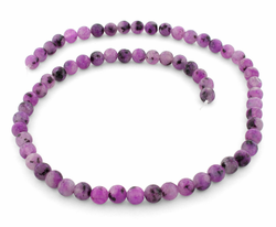 8mm Purple Quartz Round Gem Stone Beads