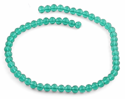 8mm Teal Faceted Round Crystal Beads