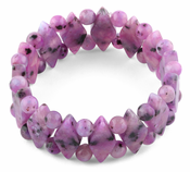 Princess Style Purple Quartz Gemstone Bracelet