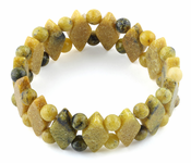 Princess Style Yellow Turtle Jasper Gemstone Bracelet
