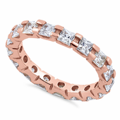 Rose Gold Plated Sterling Silver Eternity Ring