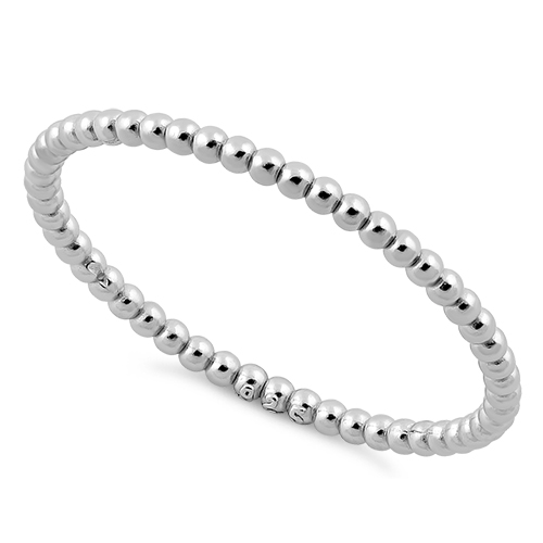 sterling silver 1 5mm stackable bead ring for sale 70