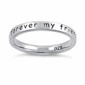 "Sterling Silver ""Always my mother, forever my friend"" Ring"