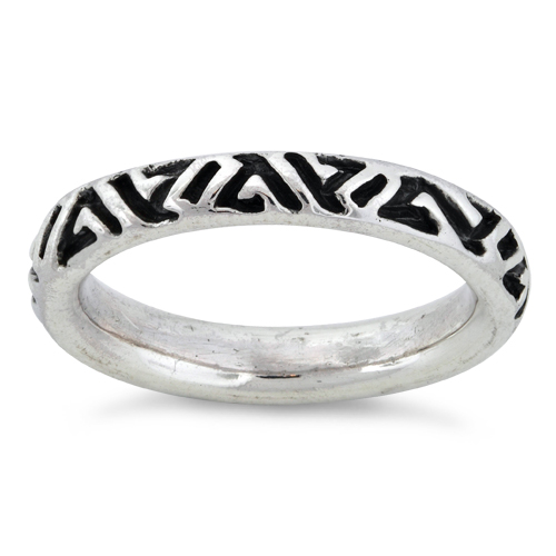 sterling silver ancient sign stackable ring