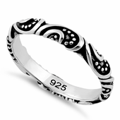 Sterling Silver Bali Band Ring