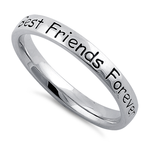sterling silver quot best friends forever quot ring