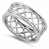 Sterling Silver Braided Eternity Band