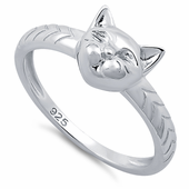 Sterling Silver Cat Ring