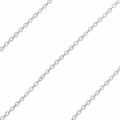 Sterling Silver Chain Brillantata 1mm