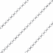 Sterling Silver Chain Brillantata Tonda 2.5mm