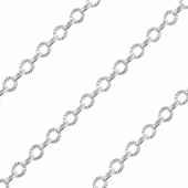 Sterling Silver Chain Catena Ovale Alternata 3mm