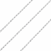 Sterling Silver Chain Cilindro 1mm x 1.5mm