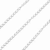 Sterling Silver Chain Grummetta Rada Diamant 1.7mm