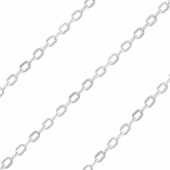 Sterling Silver Chain Metraggio 2.2mm x 4.1mm