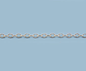 Sterling Silver Chain Round Flat Cable 2.3mm