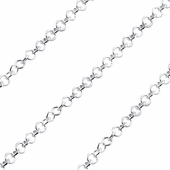 Sterling Silver Chain Round Twisted 2.5mm
