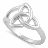 Sterling Silver Triquetra Charmed Ring