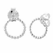 Sterling Silver Circle Beads Earrings