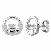 Sterling Silver Claddagh Earrings