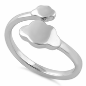 Sterling Silver Clouds Ring