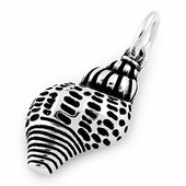 Sterling Silver Conch Shell Charm Pendant