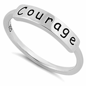 "Sterling Silver ""Courage"" Ring"