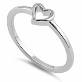 Sterling Silver Darling Heart Ring