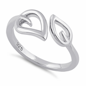 Sterling Silver Double Leaf Ring