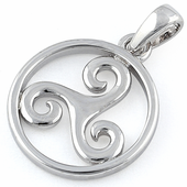 Sterling Silver Druid Celtic Symbol Pendant