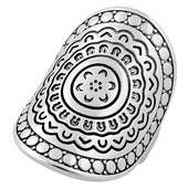 Sterling Silver Enchanted Shield Ring