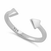 Sterling Silver End to End Arrow Ring
