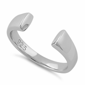 Sterling Silver End to End Bar Ring