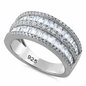 Sterling Silver Exquisite CZ Ring