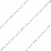 Sterling Silver Flat Oval Chain 1.8mm x 3.4mm