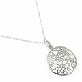 Sterling Silver Flowering Necklace